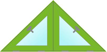 двойное треугольное окно