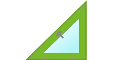 треугольное окно равнобедренное